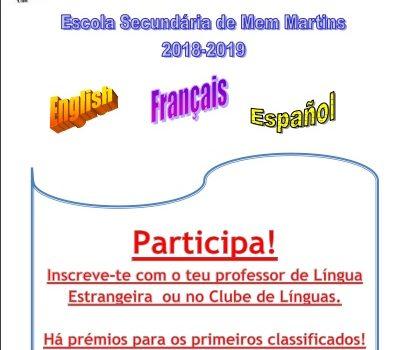 Concurso de Leitura em voz alta das Línguas Estrangeiras