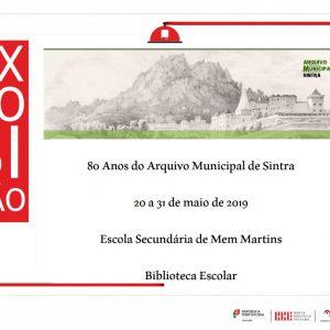Exposição – 80 anos do Arquivo Municipal de Sintra