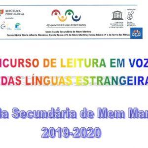 Concurso de Leitura em voz Alta – Línguas Estrangeiras