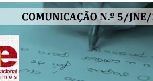 Comunicação n.º 5 do JNE