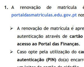 RENOVAÇÃO DE MATRÍCULA – 2020/20121